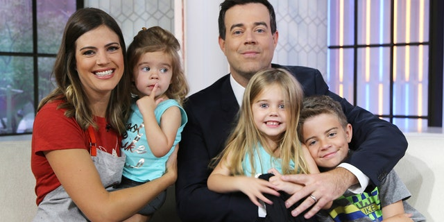 From left: Siri Daly, London Rose, Carson Daly, Etta Jones, and Jackson James on Thursday, June 8, 2017 -- (Photo by: Zach Pagano/NBC/NBCU Photo Bank via Getty Images)