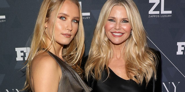Sailor Brinkley-Cook and Christie Brinkley attend the 2018 Footwear News Achievement Awards at IAC Headquarters on December 4, 2018 in New York City.