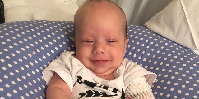 Colton was diagnosed with SCID at around 1-week-old.