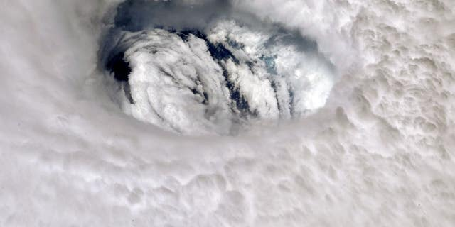 The eye of Dorian as seen from the ISS. (NASA/Nick Hague)