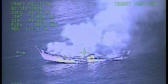 Westlake Legal Group ec93ddab-Boat-Fire-2 As Dorian approaches, millions in Florida, Georgia and Carolinas urged to evacuate; Bahamas death toll rises fox-news/columns/fox-news-first fox news fnc/us fnc article ad51322d-3d07-528a-8ad8-56ae5af3d895