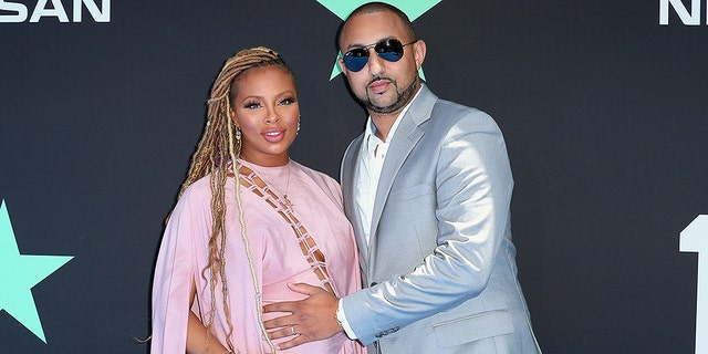 Eva Marcille and Michael Sterling attend the BET Awards on June 23, 2019, in Los Angeles.
