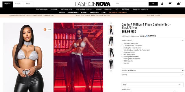 """celebrity crush Aaliyah fans now have the option of buying Fashion Nova's """"One In a Million""""costume."""