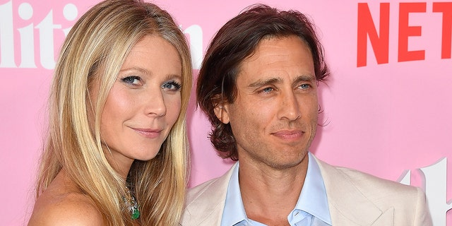 "Gwyneth Paltrow and her husband Brad Falchuk arrive for the Netflix premiere of ""The Politician"" at the DGA theatre in New York City on Sept. 26, 2019."