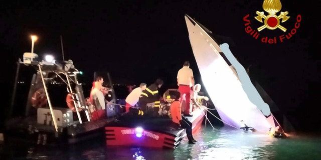 The men were attempting to break the racing boat record for Monte Carlo to Venice. (Italian Firefighters via AP)