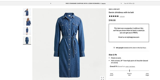 Style blog Meghan鈥檚 Mirror quickly identified the duchess鈥� duds as a $118 belted shirtdress and $148 gray sweater blazer, both by J.Crew.