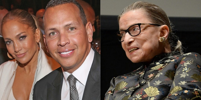 Jennifer Lopez and Alex Rodriguez asked Supreme Court Justice Ruth Bader Ginsburg for marriage advice. The couple got engaged in spring 2019.