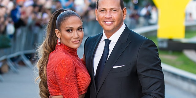 Jennifer Lopez and Alex Rodriguez (Photo by Gilbert Carrasquillo/GC Images)