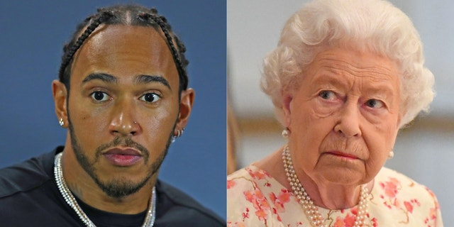 Lewis Hamilton says Queen Elizabeth II scolded him for his table manners.