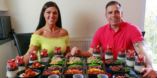 John Clark, 39, has lost more than 112 pounds and his partner Charlotte Deniz, 34, shed 88 pounds by being ultra-organized cooks.