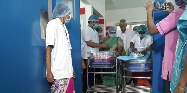 73-year-old Indian woman gives birth to twins