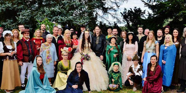 """Guests and members of the wedding party were instructed to dress as characters from """"Lord of the Rings"""" or """"Game of Thrones."""""""