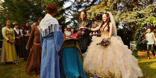 """""""It was the wedding of my dreams,"""" said Etz, 37, of the over-the-top ceremony."""
