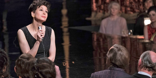 "This image released by Roadside Attractions shows Renée-Zellweger as Judy Garland in a scene from ""Judy,"" in theaters on Sept. 27."
