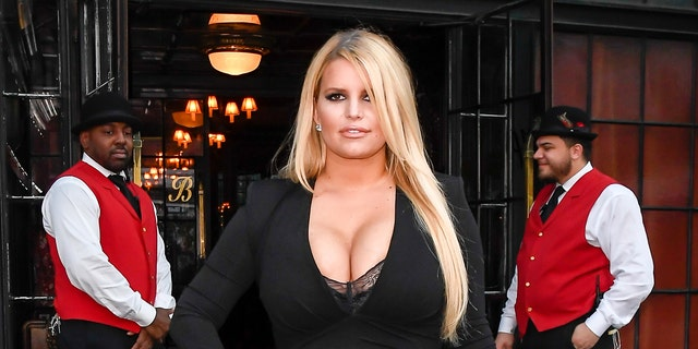 Jessica Simpson arrives at a hotel in SoHo on September 25, 2019 in New York City.