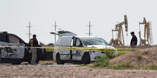 Officials investigating the stolen mail truck used by the shooter who had opened fire in Odessa and Midland.