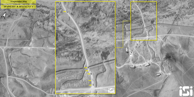 The satellite images show a convoy of vehicles leaving the site at around 3 p.m. local time.