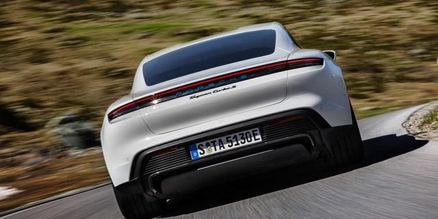 Westlake Legal Group tay3 All-electric Porsche Taycan debuts as the world's most powerful sedan Gary Gastelu fox-news/auto/make/porsche fox-news/auto/attributes/innovations fox-news/auto/attributes/electric fox news fnc/auto fnc article 7af988aa-2e49-5cc4-a44b-eabcebd63e40