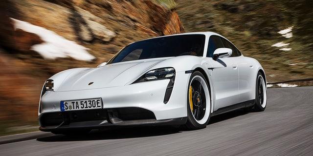 Westlake Legal Group tay4 All-electric Porsche Taycan debuts as the world's most powerful sedan Gary Gastelu fox-news/auto/make/porsche fox-news/auto/attributes/innovations fox-news/auto/attributes/electric fox news fnc/auto fnc article 7af988aa-2e49-5cc4-a44b-eabcebd63e40