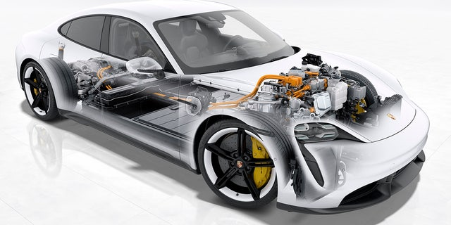 Westlake Legal Group tay8 All-electric Porsche Taycan debuts as the world's most powerful sedan Gary Gastelu fox-news/auto/make/porsche fox-news/auto/attributes/innovations fox-news/auto/attributes/electric fox news fnc/auto fnc article 7af988aa-2e49-5cc4-a44b-eabcebd63e40