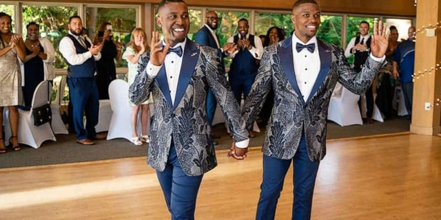 Isaiah and Taylor Green-Jones got married in Portland, Ore., on Aug. 4.