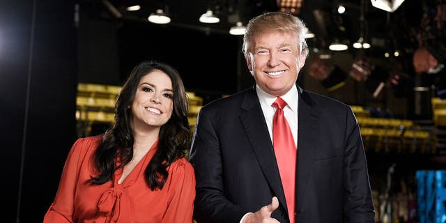 Cecily Strong, Donald Trump on November 3, 2015. (Dana Edelson/NBC/NBCU Photo Bank via Getty Images)