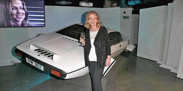 The actress Valerie Leon attends a party at the Bond In Motion exhibition at London's Film Museum on March 18, 2014 in London. The exhibition is the largest official collection of original Bond vehicles and will be open to the public on 21 March.