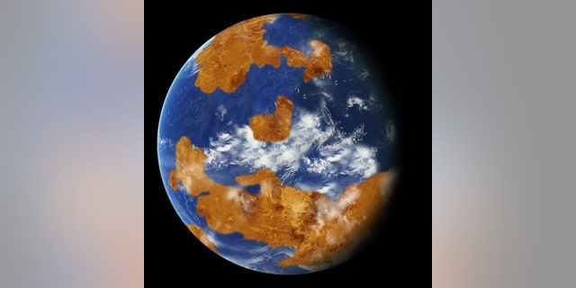 Artist's representation of Venus with water. Credit: NASA