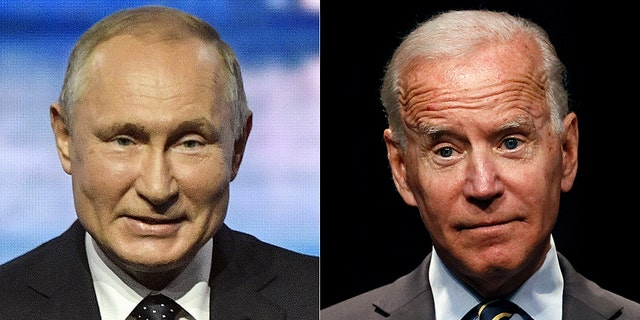 "Democratic presidential candidate Joe Biden (right) claims he once told Russian President Vladimir Putin (left) he has no ""soul."" (Associated Press)."