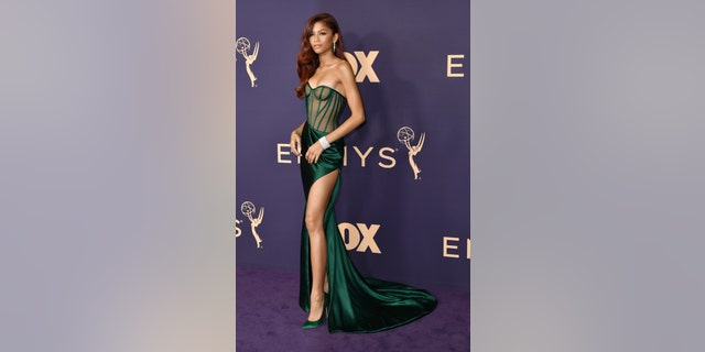 Zendaya arrives at the 71st Primetime Emmy Awards on Sunday, Sept. 22, 2019, at the Microsoft Theater in Los Angeles.