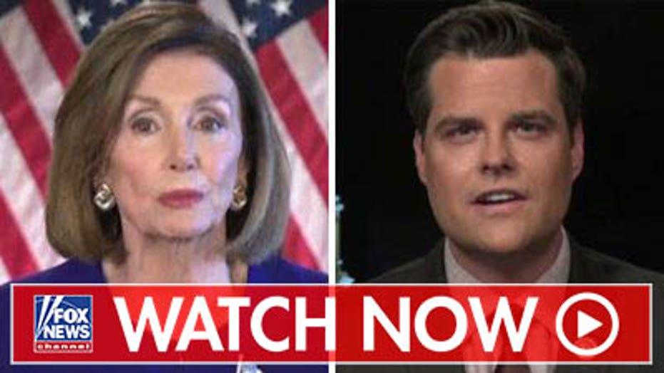 Matt Gaetz reacts to Pelosi's impeachment inquiry