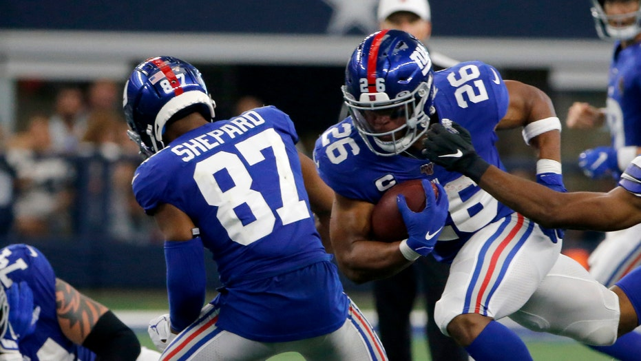 wholesale dealer 8bc51 95ab8 New York Giants' Sterling Shepard says he played with likely ...