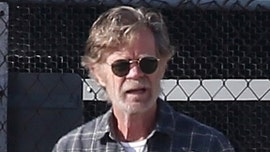 William H. Macy back to work as wife Felicity Huffman serves 14-day prison sentence
