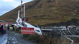 Alaska plane carrying 42, including high school swim team, skids off runway; 2 critically injured