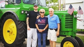 Man drives tractor 5,600 miles around US to support wounded vets