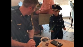 Oklahoma boy, 3, wows police with his uniform