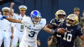 Air Force defense comes away with incredible tipped interception return for touchdown