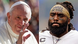 Demario Davis jokes he might send Pope 'Man of God' headband after saints tweet