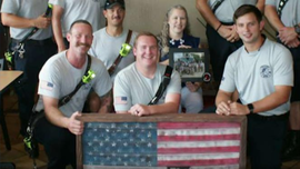 Florida firefighter turns old fire hoses into American flags: 'That's what unites us'