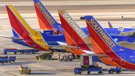 Southwest Airlines plane blown into jet bridge at Boston's Logan airport