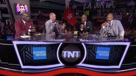 Hong Kong flag flies during TNT coverage of Lakers-Clippers NBA season opener