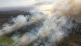 Hawaii airport reopens after brush fire