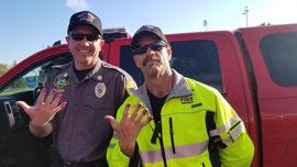Utah firefighters let 'very scared' girl, 2, paint their nails after car crash