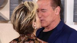 'Terminator: Dark Fate' stars Linda Hamilton and Arnold Schwarzenegger share a kiss