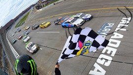 Blaney wins rain-delayed Talladega NASCAR playoffs race in photo finish