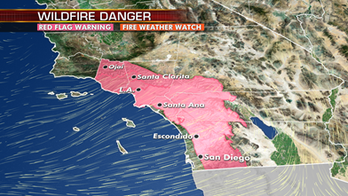 One more day of critical fire conditions for Southern California until winds settle down