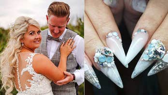 Bride incorporates late father's ashes into wedding nails, uses 'tiny bits of bone fragment' for glittery look