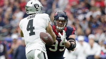 J.J. Watt out for season after tearing pectoral muscle