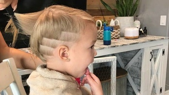 Toddler cuts off baby sister's hair, surprised mom says 'rad' new look matches girl's personality