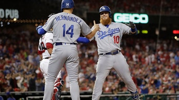 7 2-out runs in 6th lift LA past Nats 10-4 for 2-1 NLDS lead